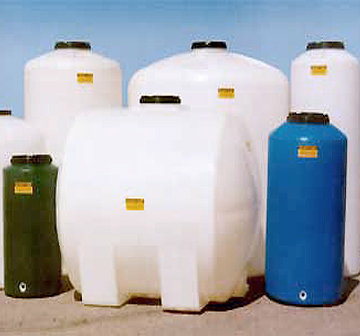 Plastic water and naphtha tanks